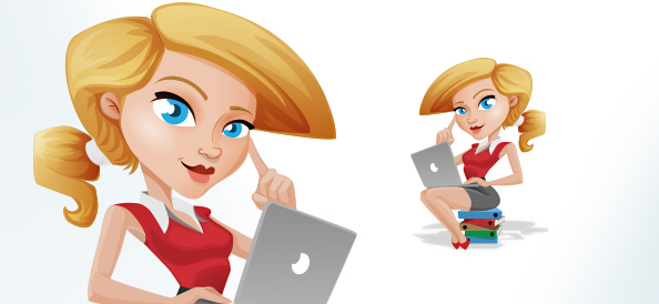 Vector_Business_Girl_with_Laptop_Small